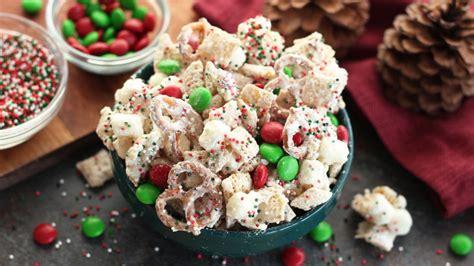 christmas chex party mix recipe bettycrocker com