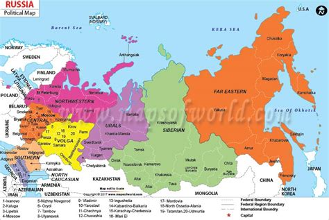 russian provinces map quiz political map of russia