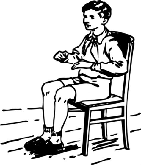The White Chair Boy Reading Clipart Black And White Clipart Panda Free
