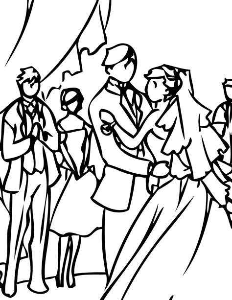 Wedding Pages Inc by Wedding Reception Coloring Page Handipoints