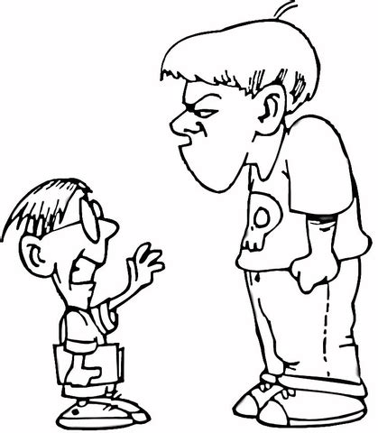 Bullying In Elementary School Bullying Coloring Pages