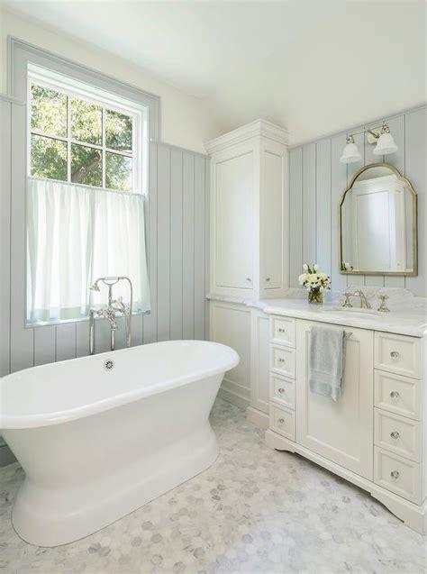 alyssa rosenheck  white master bathroom  sheer