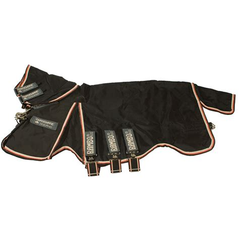 Rambo Rug Liner by Rambo Optimo Turnout Rug With 400g Liner Black Orange Redpost Equestrian