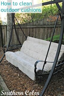 how to clean outdoor cushions at southern color diy