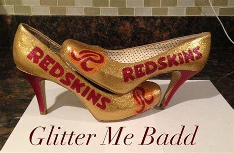 redskins high heels washington redskins glitter high heel by glitter me badd
