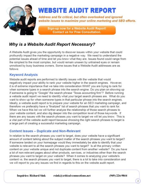 website audit report sle website audit reports are they necessary