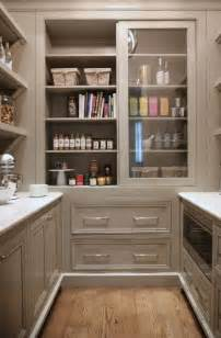 Kitchen Cabinets Pantry Ideas by Grey Pantry Cabinets With Sliding Doors Transitional