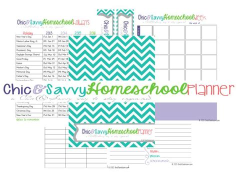 printable homeschool planner free planner 2014 2015 homeschool year pinterest
