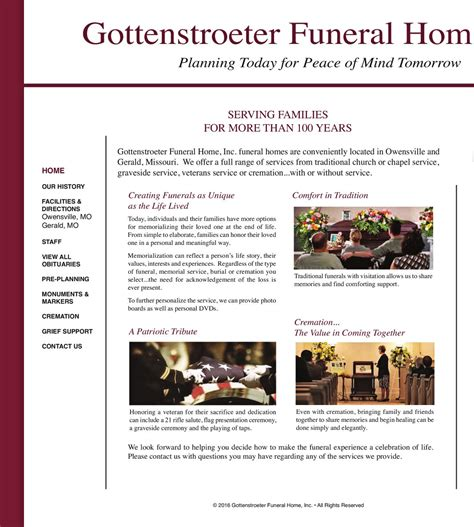 gottenstroeter funeral home inc