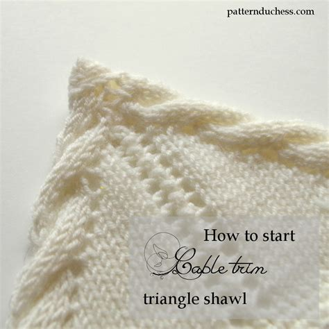 how to start a new of yarn knitting how to start knitting triangle shawl with twisted trim