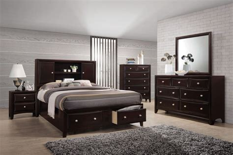 bedroom set with tv solitude 5 piece king bedroom set