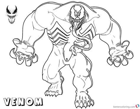 venom coloring pages venom coloring pages strong venom fanart free printable