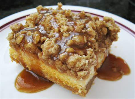 Caramel Apple Cheesecake Bars With Streusel Topping by Caramel Apple Cheesecake Bars With Streusel Topping