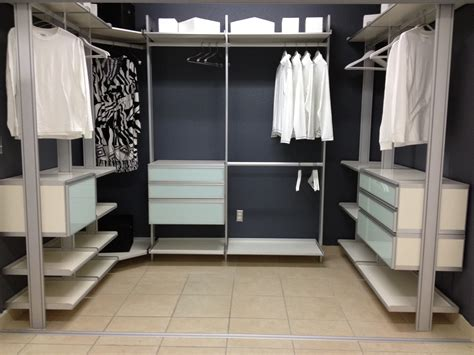 Closet Shelving Units Apartment Closet Shelves White Polished Steel Wall