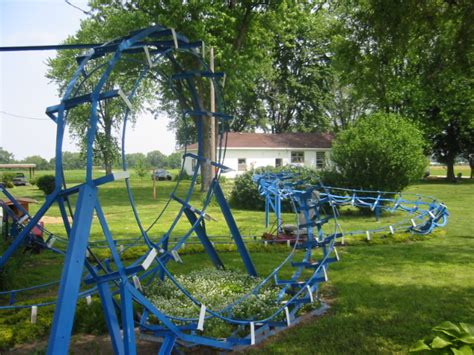 backyard theme park blue flash backyard coaster