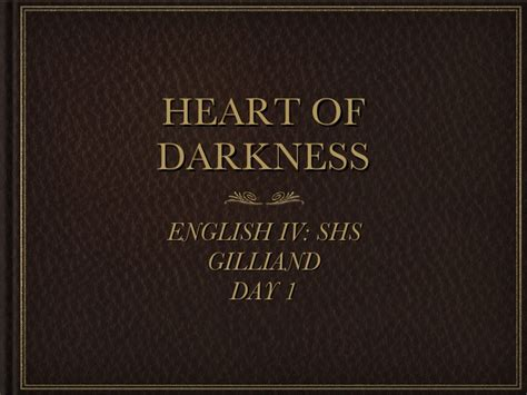 theme of heart of darkness slideshare heart of darkness presentaton 2