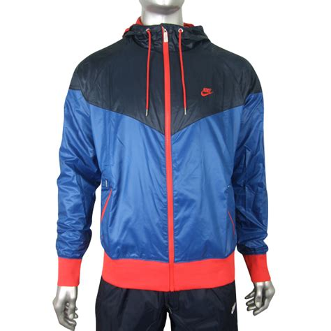 Jaket Hoodie Parasut Running Wind Protector Outdoor Nike Hitam Biru windbreaker jacket malaysia outdoor jacket