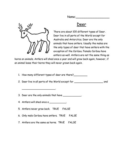 reading comprehension test middle school 20 best images of printable 2nd grade reading
