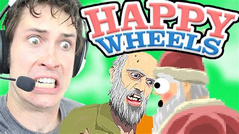 happy wheels full version santa happy wheels santa kisses wheelchair guy youtube