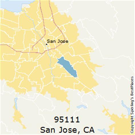 san jose map of zip codes best places to live in san jose zip 95111 california