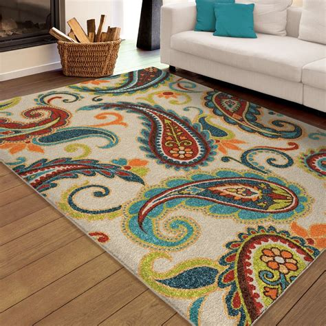barrel studio rug paisley carolina weavers indoor outdoor santa barbara collection