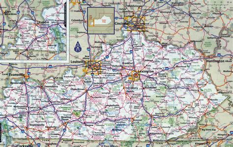 kentucky map america large detailed roads and highways map of kentucky state