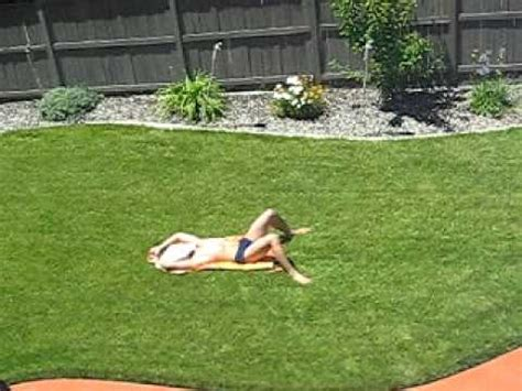 naked in my backyard sunbathing youtube
