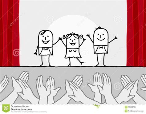 imagenes libres de otoño demostraci 243 n del teatro y manos que aplauden ilustraci 243 n
