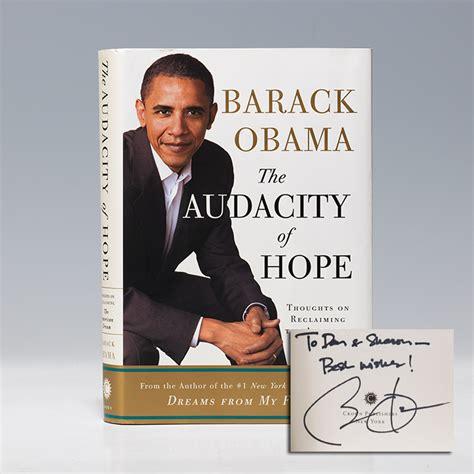 barack obama picture book audacity of edition signed barack obama