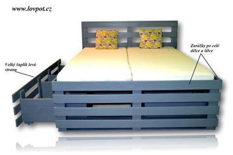 lada big postel z palet lada big vyska 60cm