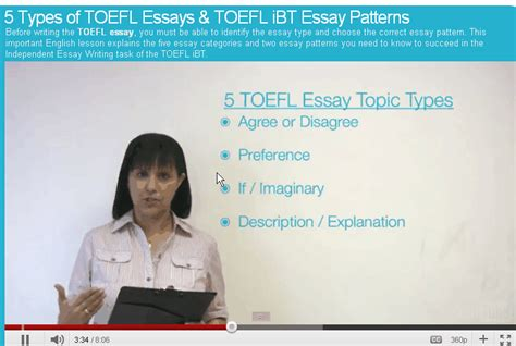 pattern writing toefl ibt 5 types of toefl essays writefiction581 web fc2 com