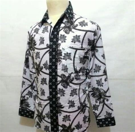 Baju Kemeja Laki Batik Lengan Panjang Pria Cowok Slimfit Formal Casual jual kemeja baju batik pekalongan panjang kerja katun pria