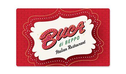 Buca Gift Card Balance - restaurant gift cards buca di beppo italian restaurant