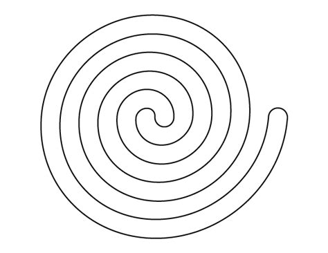 spiral pattern use the printable outline for crafts