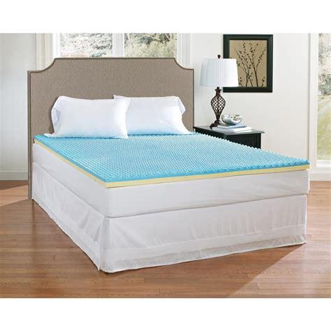 california king memory foam mattress broyhill 2 in california king gel memory foam mattress topper imtopb201ck the home depot
