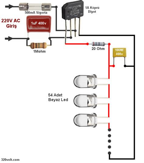 ac led capacitor calculator transformerless led lighting led l circuit electronics how to light