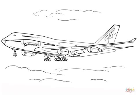 787 Coloring Page by Boeing 747 400 Coloring Page Free Printable Coloring Pages