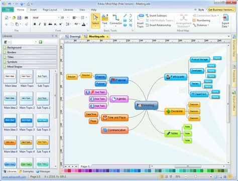 map program edraw mind map screenshot and at snapfiles