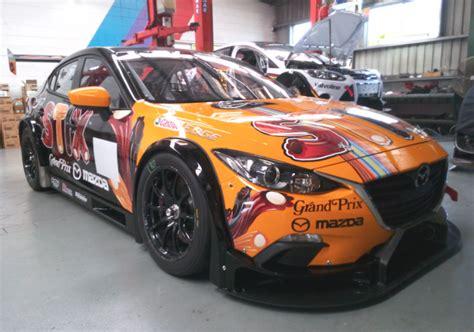 Bathurst bound Mazda 3 V8 breaks cover   Speedcafe