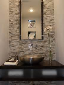 Glass Tile Powder Room Powder Room Featuring Erin Adams Glass Mosaic Tile On Wall
