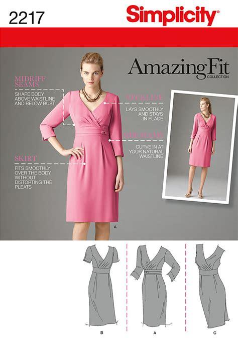 pattern review simplicity amazing fit simplicity 2217 misses amazing fit dresses