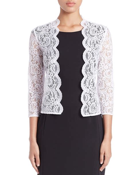Lace Cardigan calvin klein lace cardigan in white lyst