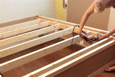 wood bed frame diy bed frame plans bed