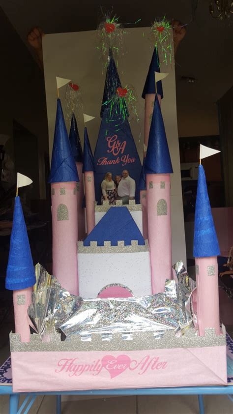 Gift Card Castle - beautiful castle gift card holder and party favors tray teamknk