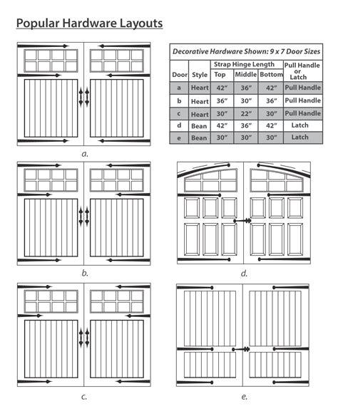 decorative hardware for garage doors garage door decorative hardware accessories artisan