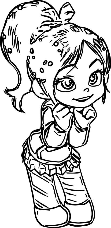 vanellope von schweetz girl coloring page wecoloringpage