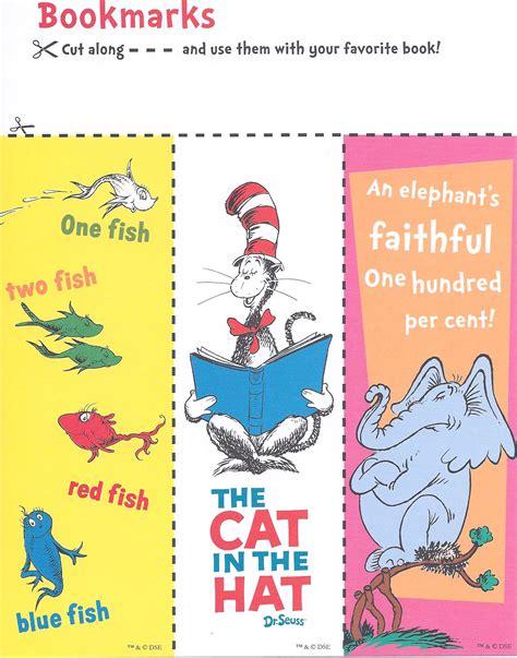 printable bookmarks dr seuss celebrating dr seus s birthday