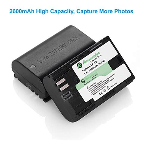 Charger For Op Can 16 For Canon Lp E 10 powerextra 2 pack replacement canon lp e6 lp e6n battery