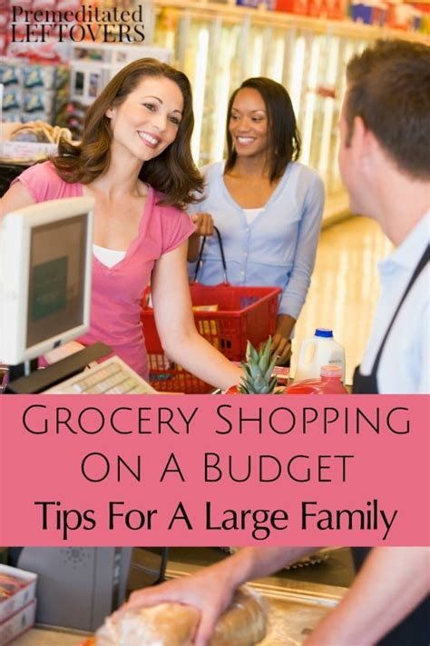 grocery shopping   large family   budget
