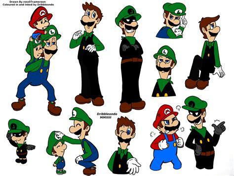 Super Mario Random Doodles Coloured In By Dribbleondo On
